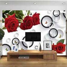 beibehang Custom large rose mural 3d ...