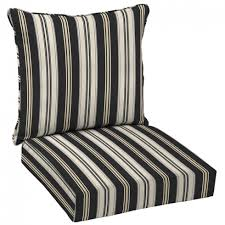 hampton bay black stripe deep seating outdoor lounge chair cushion within simple stripe outdoor chair cushions applied to your home design