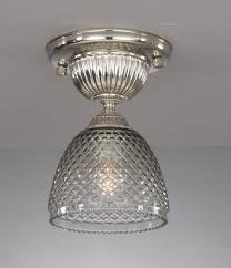 Iron And Brass Ceiling Lamp With Blown Smoked Glas Reccagni Store