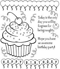 Small Picture Awesome Coloring Pages For Birthday Cards Ideas Coloring Page