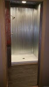 bathroom remodeling corrugated metal rustic bathroom small galvanized steel shower bathroom remodel galvanized