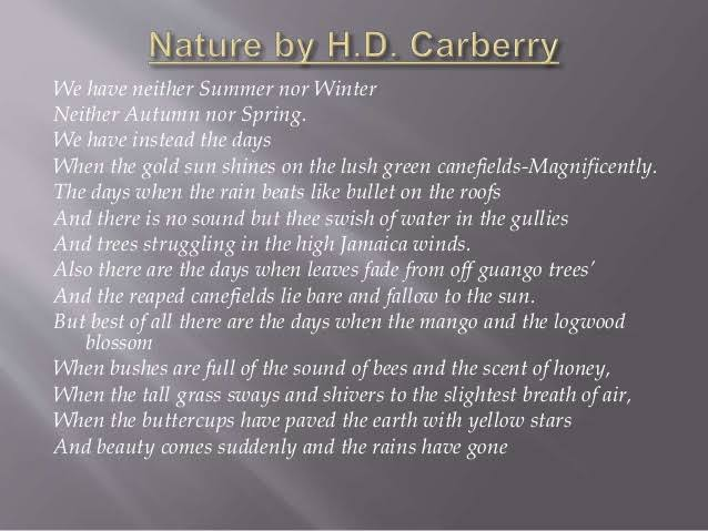 poem on nature in english for class 7