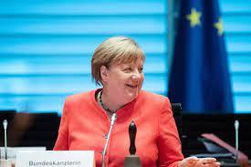 Angela Merkel in Europa ...