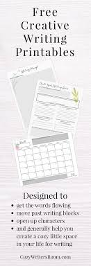 best journal prompts for adults ideas social  the cozy writer s room sends a creative writing printable for adults once a month