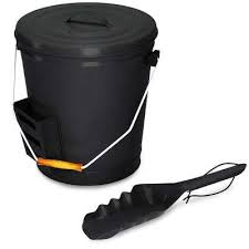 ash bucket with lid and shovel