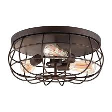 cage light fixtures caged lighting wire cage flush mount light rubbed bronze caged lighting d industrial