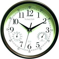 outdoor wall clocks and thermometers garden thermometer large outdoor wall clock thermometer