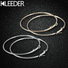 Oversize Gold Silver Color <b>Big Circle Hoop</b> Earrings Set Korean ...