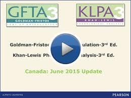 Goldman Fristoe Test Of Articulation Third Edition Gfta 3