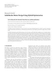 Solid Rocket Motor Design Pdf Solid Rocket Motor Design Using Hybrid Optimization