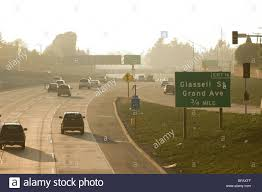 traffic flowing along a reconstructed area of the garden grove freeway in orange ca at tustin avenue