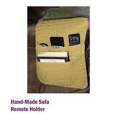 handmade sofa remote control organizer