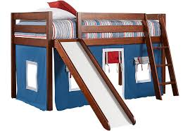 bunk bed with slide.  With Freedom Fort Cherry Jr Tent Loft Bed With Slide In Bunk With