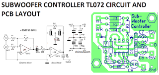 subwoofer controller uses a single ic tl072 circuit diagram circuit diagram