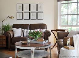 living rooms with brown furniture. Decorating With A Brown Sofa Living Rooms Furniture X