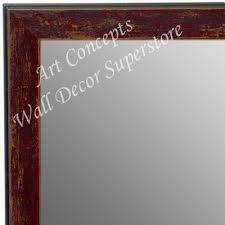 distressed small custom wall mirror