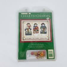 Dimensions Charts Charms 8514 Let It Snow While I Sew Counted Cross Stitch Kit