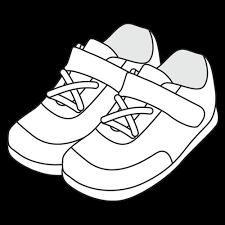 子供用スニーカーのイラスト