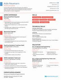 Engineering Resume Examples Marvelous Mechanical Engineering Resume