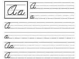 Printable Cursive Writing Worksheets Pdf Alphabet Practice