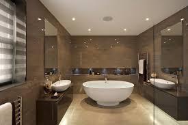 bathroom recessed lighting ideas espresso. spacious modern bathroom with white bowl bath tub and dark brown walls also recessed lighting ideas espresso r