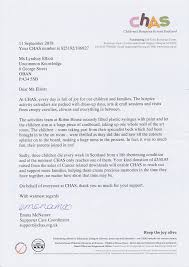 Thank You Letter For Donations Amazing CHAS Thank You Letters Self Hypnosis Downloads