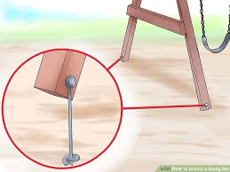image titled anchor a swing set step 10