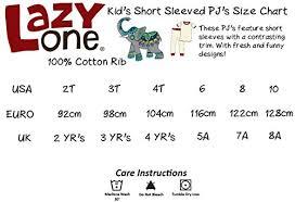 Lazy One Size Chart Amazon Com Lazy One Little Boys Sleep In The Dark Pj Set