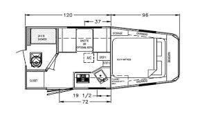 toy hauler trailer featherlite trailers floor plans 4941 toy hauler trailer featherlite trailers floor plans