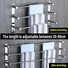 3 tier bath towel rail rack bar hook