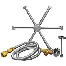 firegear 36 inch burning spur propane gas fire pit burner kit without pan match
