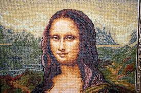 embroidered painting mona lisa julia embroidery versaille reions