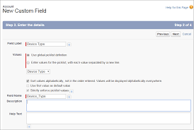 The Help Text How To Create Custom Picklist Field In Salesforce