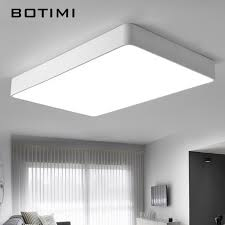 office lights. BOTIMI Modern LED Ceiling Lights Black White Square Office Light With Dimming Remote Home Lighting For