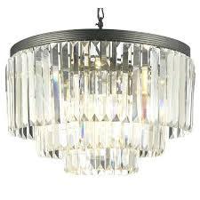 odeon glass fringe rectangular chandelier gallery retro