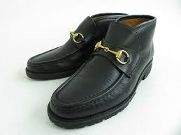 with box made in beautiful article gucci gucci leather hose bit loafer bootie black gold metal fittings 8 1 2 d italy