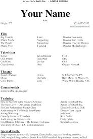 Theater Resume Examples Movie Ideas Of Sample In Summary Theatre