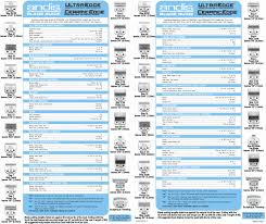Andis Clipper Blade Sizes Chart Best Picture Of Chart