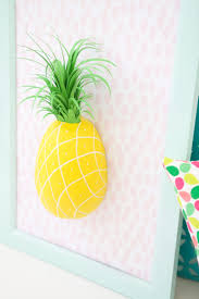 diy paper mache pineapple wall art in a frame via damasklove  on paper mache wall art diy with 13 diy paper mache decorations for your home shelterness