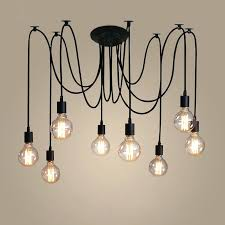 led lamp chandelier retro lamp chanlier lighting spir shape loft style vintage home light led bulb led lamp chandelier