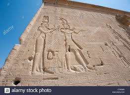 Hieroglyphic Carvings On The Exterior Walls Of An Ancient Egyptian - Exterior walls