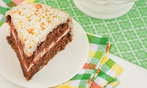 Happy Birthday Carrot Cake With Orange And Coconut Topping En