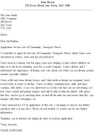 Driver Cover Letters Community Transport Driver Cover Letter Example Icover Org Uk