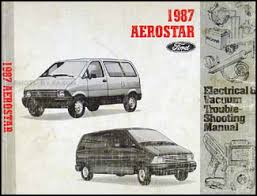 ford aerostar electrical vacuum troubleshootng manual original