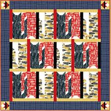 "Quilt Inspiration: Free pattern day: Cat and Dog quilts! & Casting Cats quilt, ~58 x 58"", free pattern by Cate Tallman-Evans for Blank  Quilting (PDF download) Adamdwight.com"