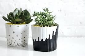 cute designs for flower pots hand painted