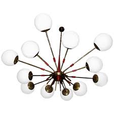 monumental italian mid century sputnik chandelier by stilnovo for