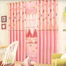 Sweet Cupcake Patterns Kids Pink Curtains