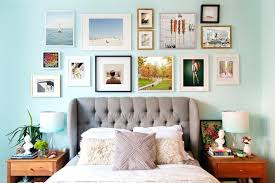 wall frame collage wall frame collage ideas bedroom eclectic with headboard wall wood photo picture frame