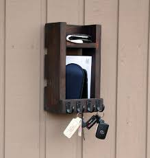 entryway key holder for wall up to 20 key hooks mail holder wall organizer rustic entryway organizer keys phone mail holder gbandwood wooden